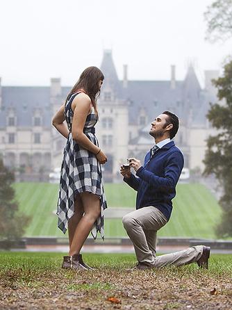 proposing at the Biltmore Estate